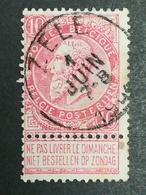 COB N ° 58 Oblitération Zele - 1893-1900 Fine Barbe