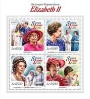 Sierra Leone 2015 Queen Elizabeth II, Prince William And Kate Middleton , Lady Diana - Sierra Leone (1961-...)