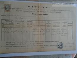 ZA183.19  Old Document  Hungary  OLASZFALU - Veszprém - Peter Wittman - 1888 - Naissance & Baptême