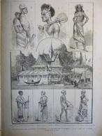 Le Pavillon Des Colonies Françaises A L'exposition D'Anvers , Dessins De R Fath 1885 - Documents Historiques