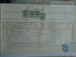 ZA183.20  Old Document  Hungary  LOVASBERÉNY - Erzsébet Tunigold - (József Böhm Kertész) - Eldemann Mihály 1870's - Décès