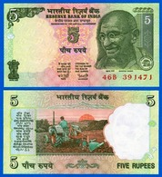 INDIA 5 RUPEES UNC NOTE NEW GEM UNC 5 RS NOTE - Inde