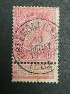 COB N ° 58 Oblitération Tirlemont (Centre) 1902 - 1893-1900 Fine Barbe