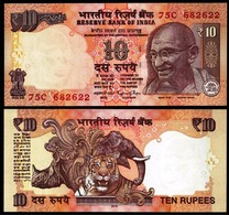 INDIA 2016 10 RUPEES UNC NOTE NEW GEM UNC 10 RS NOTE - Inde