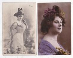 2 Cartes  Postale Femme - Donne