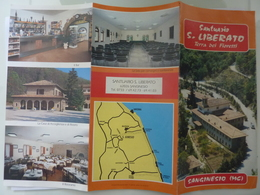 """Pieghevole  """"SANTUARIO S. LIBERATO Terra Dei Fioretti SAN GINESIO ( MC )"""" - Dépliants Touristiques"""