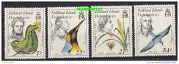 Falkland Islands Dependencies 1985 Early Naturalists 4v ** Mnh (42212) - Falklandeilanden