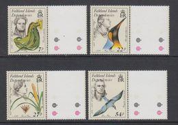 Falkland Islands Dependencies 1985 Early Naturalists 4v (+margin) ** Mnh (42212A) - Falklandeilanden