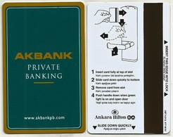 Türkei Hotelkarte / Keycard Vom Hilton Hotel In Ankara / Türkei - Hotelkarten
