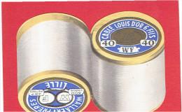 CALENDRIER 1960 FIL COUTURE CABLE LOUIS D OR 6 FILS EN SUPERBE ETAT BOBINE DE FILS - Calendriers