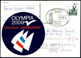 SAILING - GERMANY ROSTOCK 1992 - HANSEATISCHE HAFENTAGE - MAILED POSTCARD - Vela