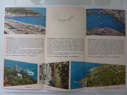 """Pieghevole """"BONASSOLA Riviera Ligure"""" ENIT Anni '60 - Dépliants Touristiques"""