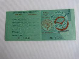 VIGNETTE AUTOMOBILE Année 1958 1959 . Unique Mise En Vente Sur Qq Jours - Revenue Stamps
