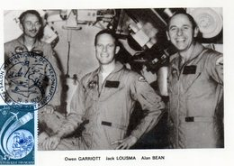 Carte 1er Jour Apollo -skylab (28-7--1973)-  Owen Carriot Jack Lousma Alan Bean - Espace