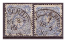 DR:  (1882/83) 2x Nr. 42b, Gestempelt - Gebraucht