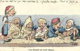 Chagny Les Clients Du Café Maure RV - Algérie