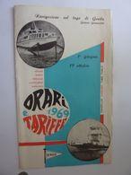 """Pieghevole """"NAVIGAZIONE LAGO DI GARDA ORARI  E TARIFFE 1969"""" - Dépliants Touristiques"""
