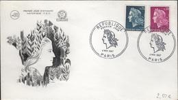 FDC132 - FRANCE N° 1535/36 Marianne De Scheffer Sur FDC 1967 - FDC