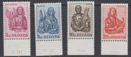 Switzerland 1961 Evangelisten 4v (printing Date In Margin) ** Mnh (42213A) - Zwitserland