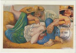 Carte-Maximum DOMINIQUE N° Yvert Bloc 72 (PICASSO) Obl Sp 1er Jour (Ed Museum Of Modern Art) - Dominique (1978-...)
