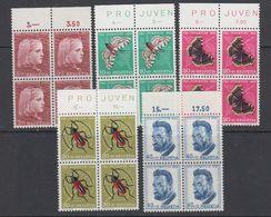 Switzerland 1953 Pro Juventute 5v Bl Of 4 ** Mnh (42213D) - Pro Juventute