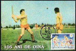 ROMANIA CLUJ-NAPOCA 1998 - 105 YEARS OF OINA - MAXIMUM CARD - Baseball