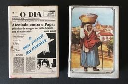 2 X Caixas De FOSFOROS Da JORNAL O DIA + PREGOES De LISBOA (Fava Rica). Set Of 2 Match Boxes PORTUGAL - Boites D'allumettes