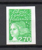 - FRANCE N° 3091 - 2 F. 70 Vert Marianne De Luquet 1997 - NON DENTELÉ - - France