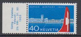 Switzerland 1953 Zurich Airport 1v  (+margin)** Mnh (42214A) - Zwitserland