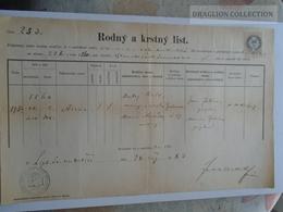 ZA185.3  Old Document  Slovakia - Liptószentmiklós Liptovski Sveti Mikulas - 1883 - Faire-part