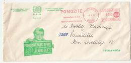 Yugoslavia, Help Hungry Children Illustrated Letter Cover With Slogan Meter Stamp 1974 Zagreb B190320 - Tegen De Honger