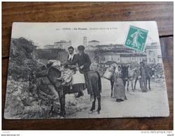 CORSE  :  ILE ROUSSE , Paysans , Retour De La Ville   …..FZ-1465 - France
