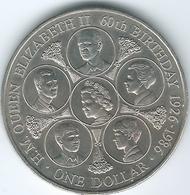 Cook Islands - 1986 - Elizabeth II - Dollar - Queen's 60th Birthday - KM31 - Cook