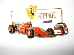 FERRARI Pin's En Zamac Double Attache - Ferrari