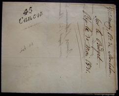 Cancon (Lot Et Garonne) 1831 Marque 45 Cancon Sur Lettre De Monbahut (incomplète, Voir Photo) - Postmark Collection (Covers)