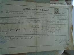 ZA185.6  Old Document  Poland Chyżne  Chyžné - Ignatius Szobcsak - 1888 -Carolus Reindl  Parochus - Naissance & Baptême