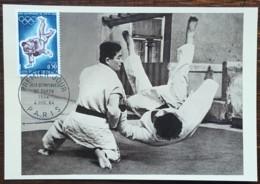 CM 1964 - YT N°1428 - JEUX OLYMPIQUES DE TOKYO / JUDO - PARIS - Maximumkarten