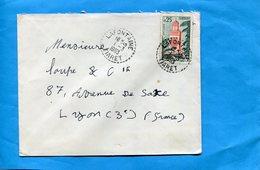 Marcophilie-Algérie -lettre-pour Françe-cad-perlé LAFONTAINE -1963+-stampsTlemcen0. - Algeria (1962-...)