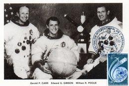 Carte 1er Jour  Apollo-skylab  (16-11--1973)-  Gerald P. Carr Edward G. Gibson William R. Pogue. - Espace