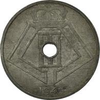 Monnaie, Belgique, 25 Centimes, 1945, TB+, Zinc, KM:132 - 1945-1951: Régence