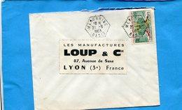 Marcophilie-Algérie -lettre-pour Françe-cad-hexagonal-MEGGARINE  -1963+-stamps - Algeria (1962-...)