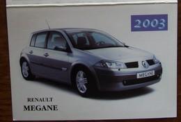 Petit Calendrier De Poche 2003 Garage Agent Renault Megane La Meignanne - Calendriers