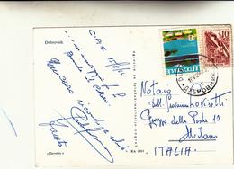 Dubrovnik, Croazia Per Milano. Cartolina Postale 1966 - Croatie