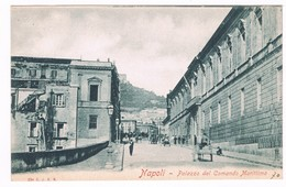 Napoli  Palazzo Comando Militare  Via Marina ? Inizio 900 Animata - Salerno