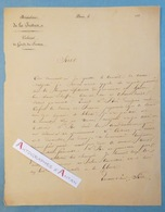 L.A.S Paul SAUZET 1836 > ROI Louis-Philippe Ier - Prison De HAM - Chantelauze Né Lyon Garde Des Sceaux Lettre Autographe - Autographes