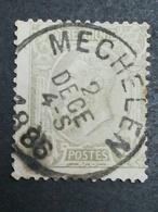 COB N ° 47 Oblitération Mechelen 1886 - 1884-1891 Léopold II