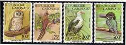 "GABON  1992  MNH   -   "" FAUNE - OISEAUX / BIRDS ""  -  4  VAL - Uccelli"