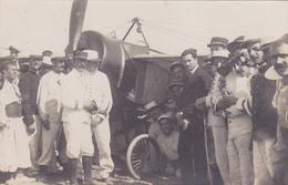 Cpa /carte Photo-aviation- Roland Garros Arrivant A Bizerte (tunisie) Le 23 Septembre 1913 -parfait état - Airmen, Fliers