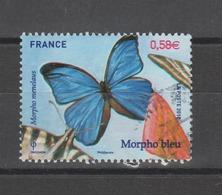 FRANCE / 2010 / Y&T N° 4497 : Papillon Morpho Bleu - Choisi - Cachet Rond - Gebraucht