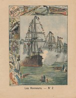Protège-cahier Couverture LES HONNEURS  LA MARINE MILITAIRE Combat  Illustrateur G. DASCHER  Del  A. FERNIQUE Ph. Sc. - Protège-cahiers
